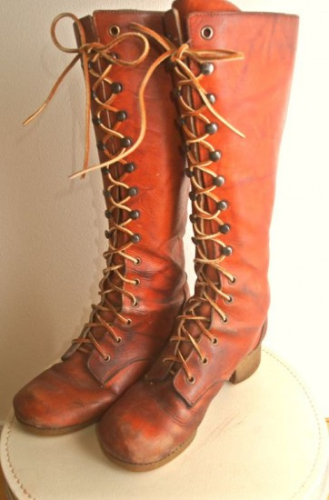 Women Leather Boots Knee High