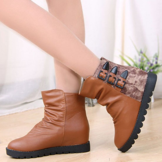 Women Leather Waterproof Boots