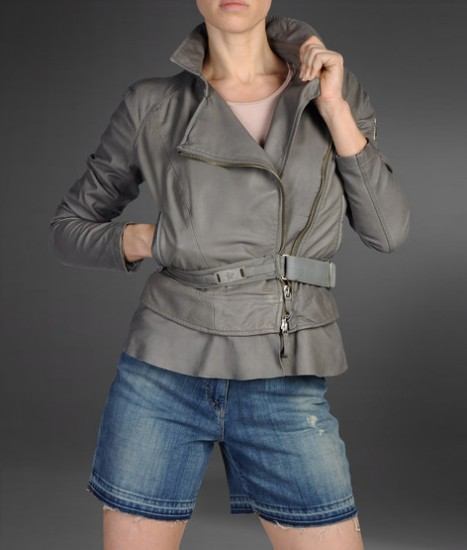 Armani Jeans Leather Jacket Women