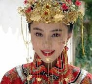 Chinese Bridal Gown for the Good Lucky Marriage