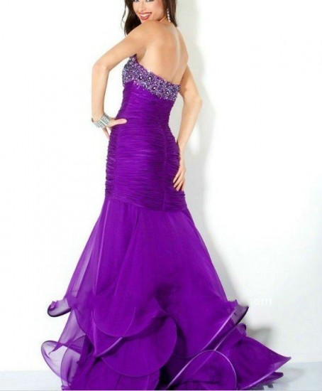 Cheap Long Purple Prom Dresses