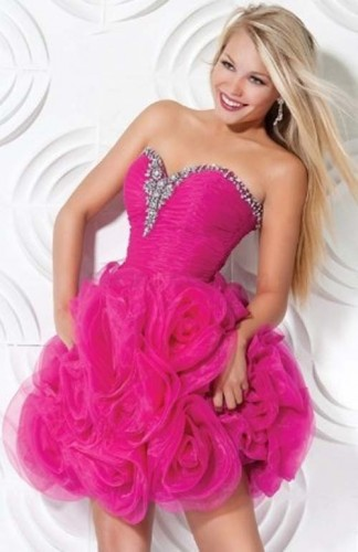 Cheap Short Pink Prom Dresses