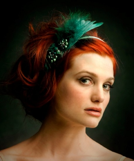 Fancy Updos with Feathers Picts