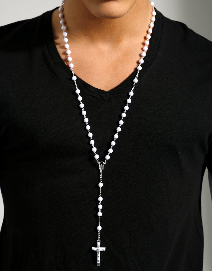 fashion rosary necklace for men fashion belief � eternity