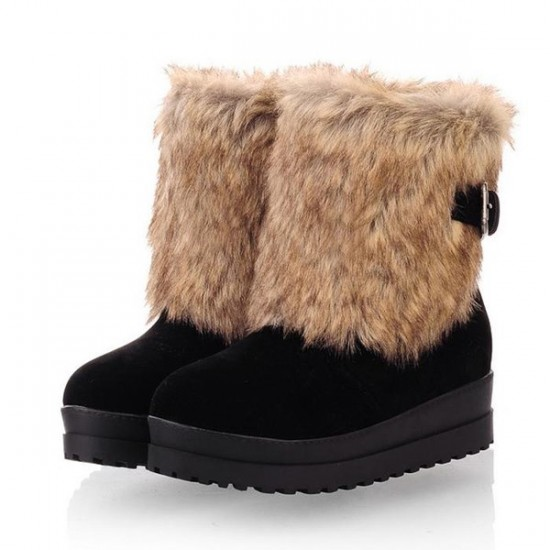 Faux Fur Winter Boots
