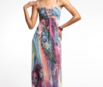 Peacock Maxi Dress for Lovely Summer and Spring