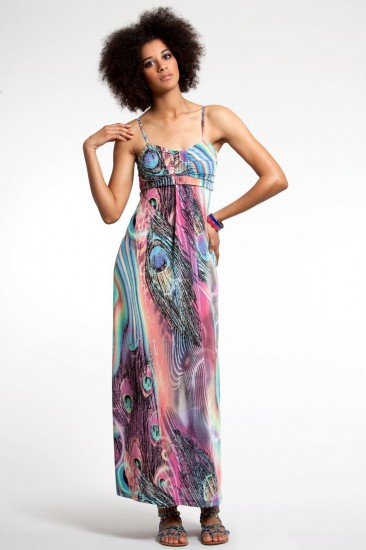 Fever Peacock Maxi Dress