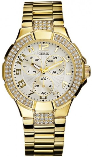 Gold Guess Wrist Watches for Women