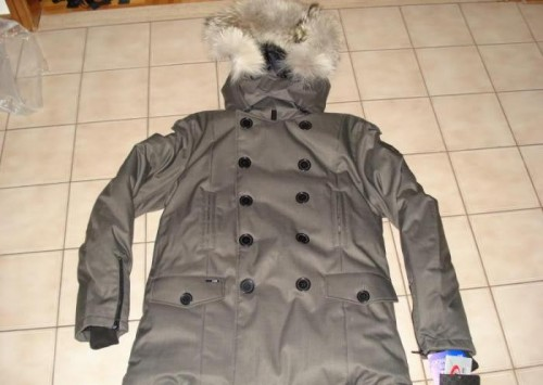 Grey Pea Coat With Hood For Men