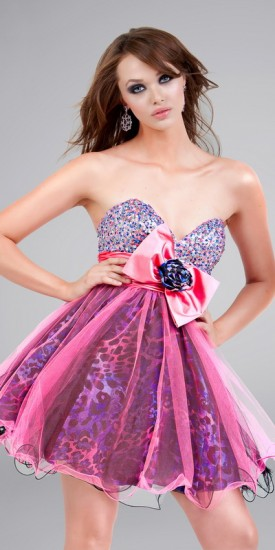 Hot Pink Camo Prom Dresses