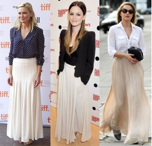 How To Wear Maxi Skirts 2012