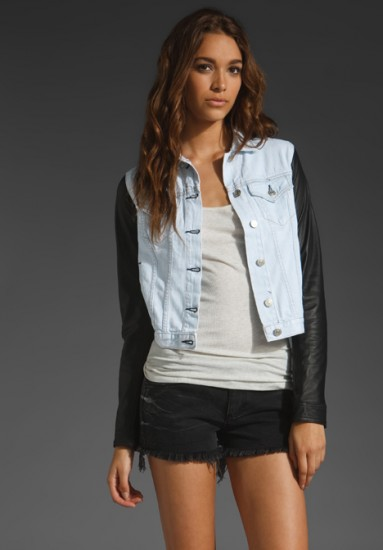 Casual and Stylist Leather Jeans Jacket Women