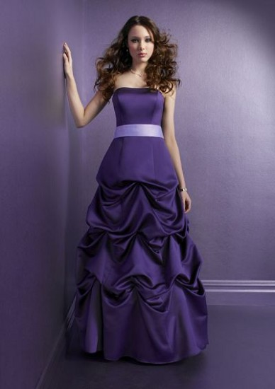 Long Purple Prom Dresses 2010
