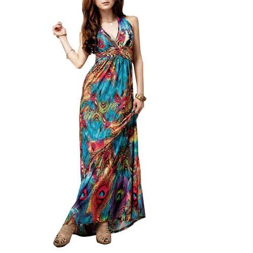 Peacock Maxi Dress New Look