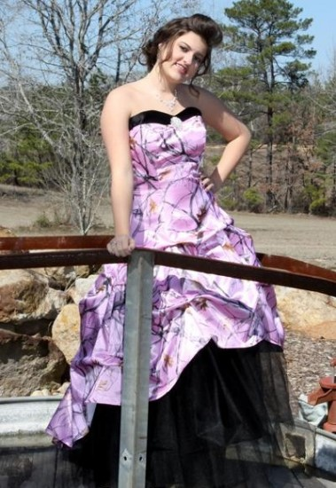Pink Camouflage Prom Dresses