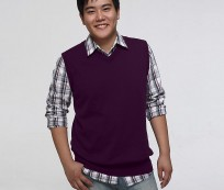 Look Sweet and Neat with Plain Purple Sweater Vest