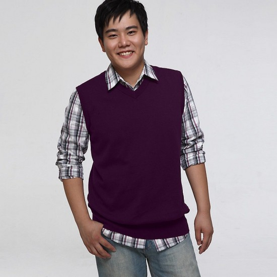 Plain Purple Sweater Vest