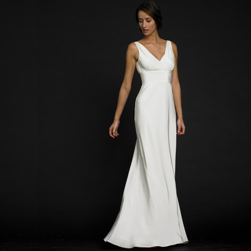 Plain White Wedding Dress