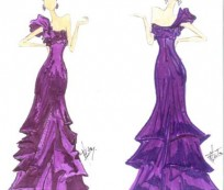 Prom Dresses Sketch for a Creative and Brilliant Girl