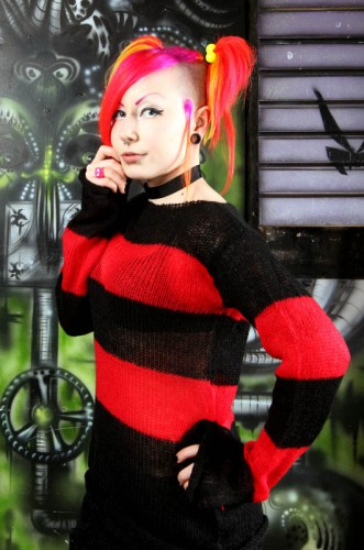 Punk Striped Mohair Sweate