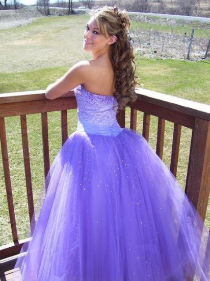 Purple Long Prom Dresses 2011