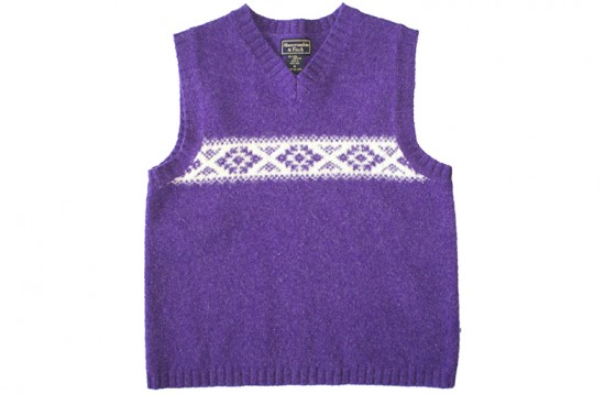 Purple Sweater Vest For Men