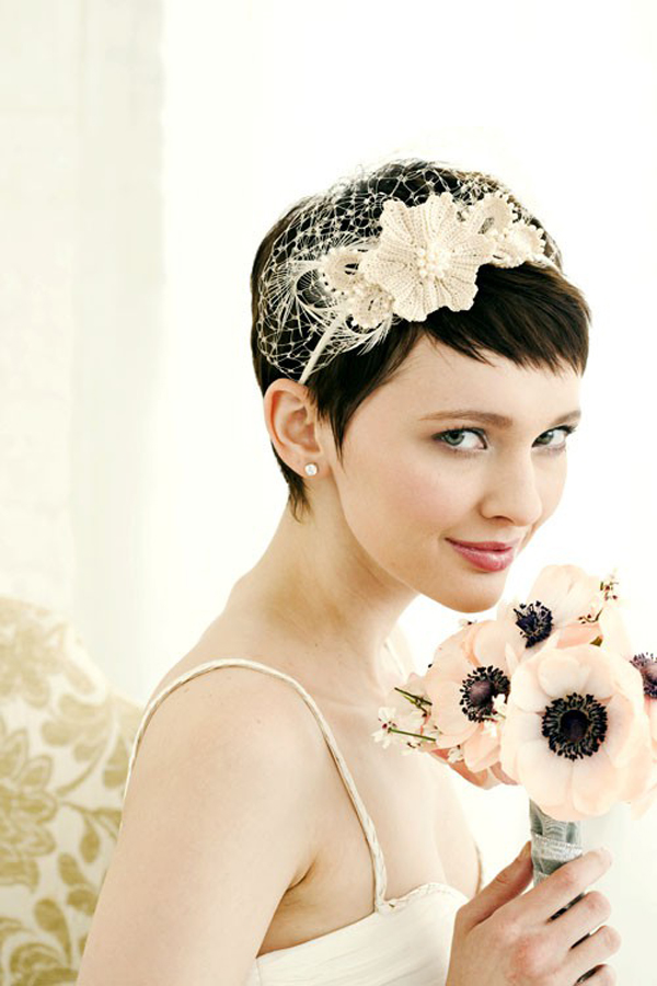 Short Hair Bridal Veils Fashion Belief