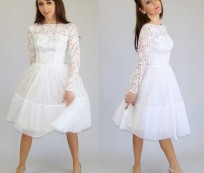 Sweet and Lovely Lace Short Wedding Dress