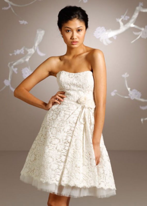 Short wedding dress fashion belief for Petite lace wedding dresses