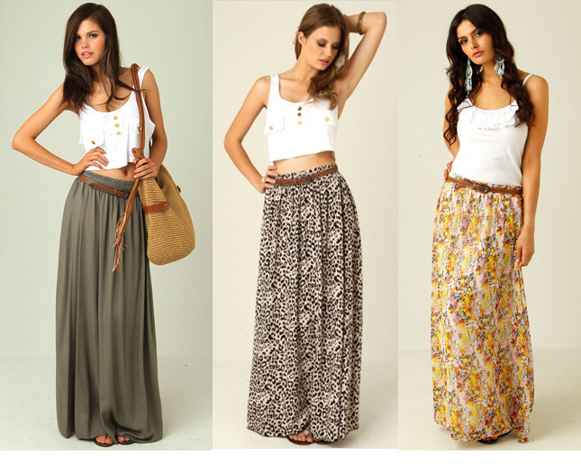 Summer maxi skirt outfits fashion belief for Cute shirts for maxi skirts