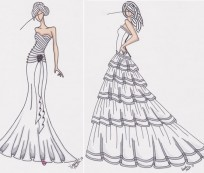 How to Make Victorian Dress Sketch