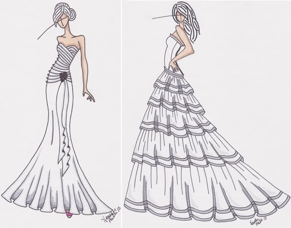 Victorian dress sketch photos fashion belief for How to draw a wedding dress