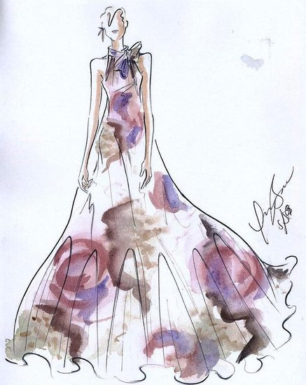Victorian Dress Sketch Picts