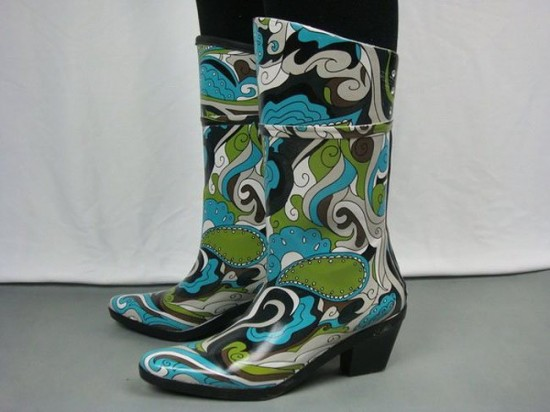 Wide Calf Wellington Boots for Women