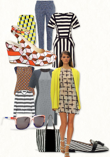 Geometric Spring clothing