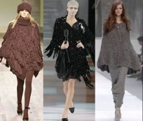 A poncho instead of a shawl or a coat