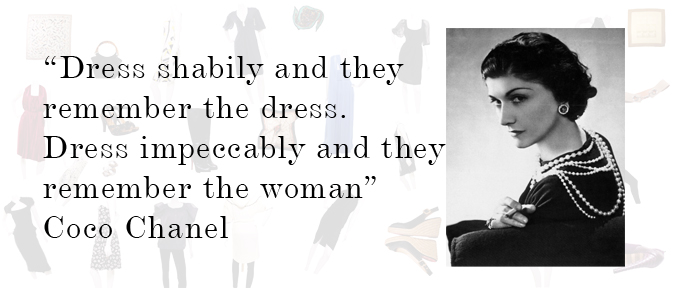 Fashion Tips From Coco Chanel Fashion Belief