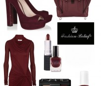 Burgundy color shades lead the fashion parade
