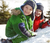 Warm winter clothing for kids