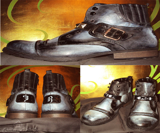 hand painted men's shoes