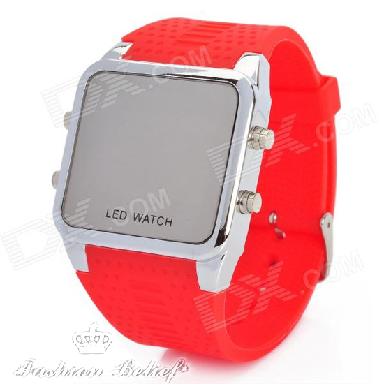 red-silicone-watch