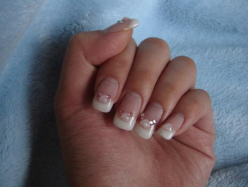 crystal nail decoration