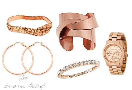 rose gold pieces