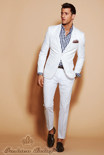 White wedding suit for men | Fashion Belief