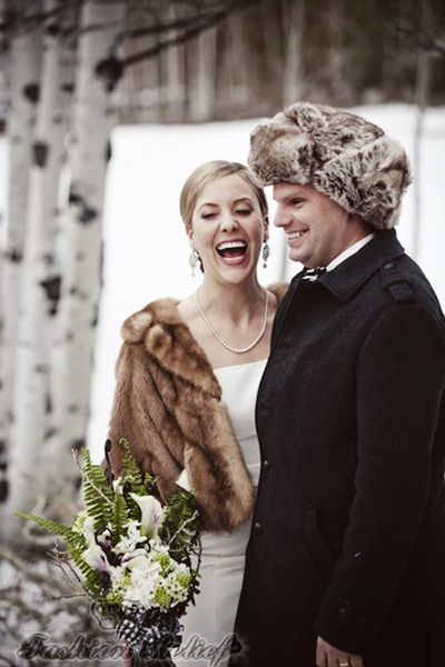 winter wedding hat