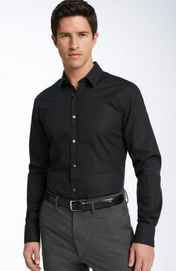 How to dress and accessorize to look like a lawyer for Black shirt business casual