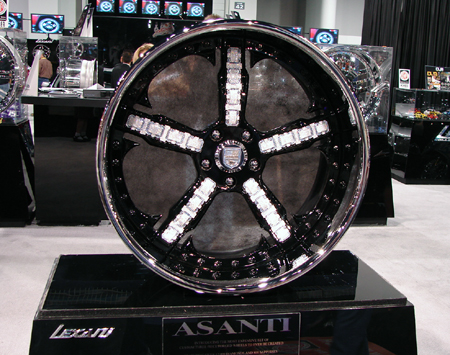 diamond-encrusted rims