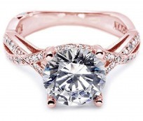 Rose Gold Engagement Rings and Wedding Bands