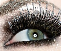 Party makeup with glitter