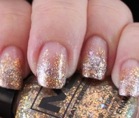 Nail art designs with gold and silver glitter